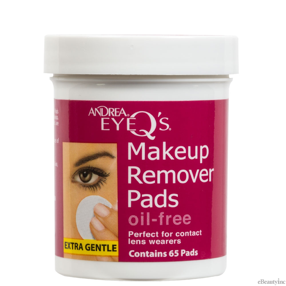 Andrea Eye Q's Eye Makeup Oil-Free Remover Pads - 65 Pads