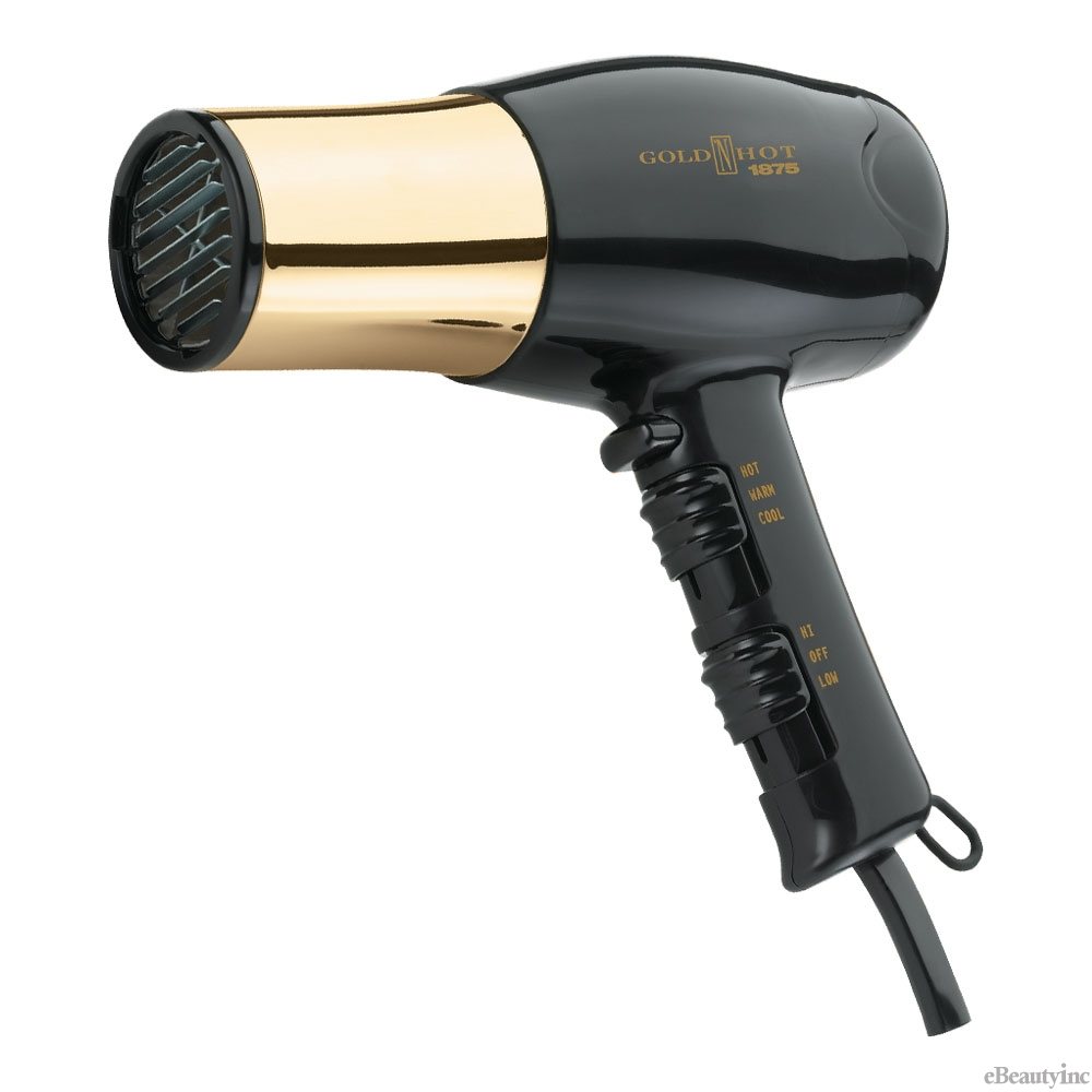 Gold N Hot 1875W Full Size Gold Euro Hair Dryer #GH8135
