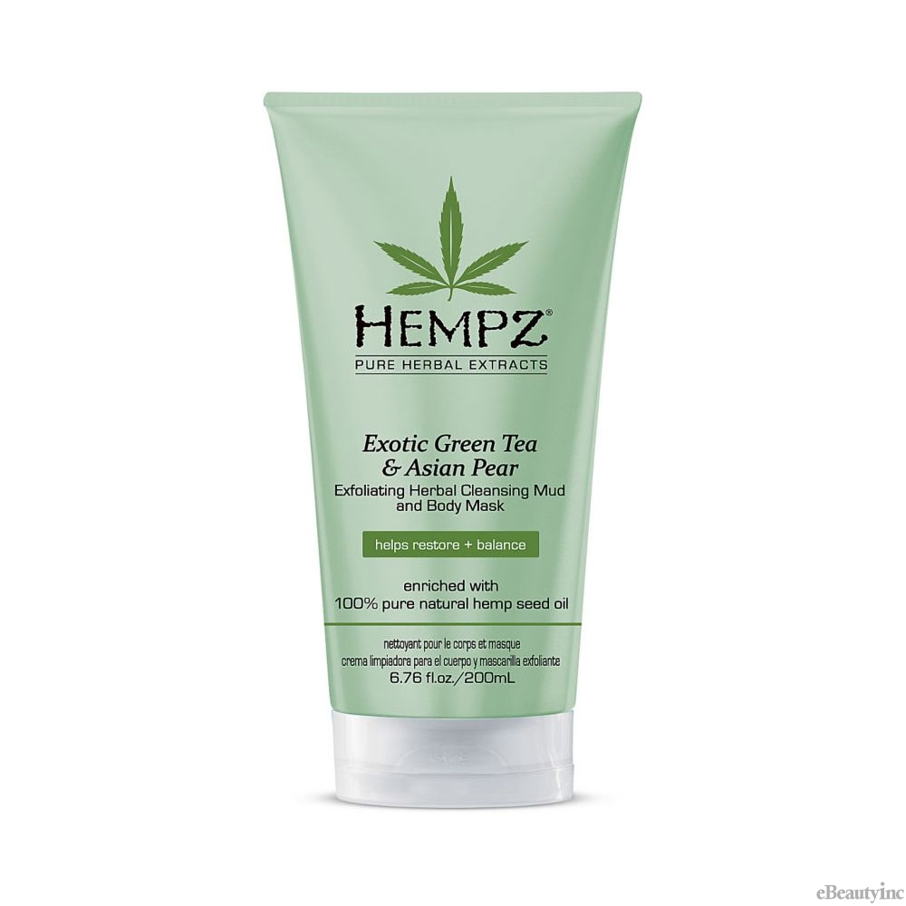 Hempz Exotic Green Tea & Asian Pear Exfoliating Herbal Cleansing Mud and Body Mask 6.76oz