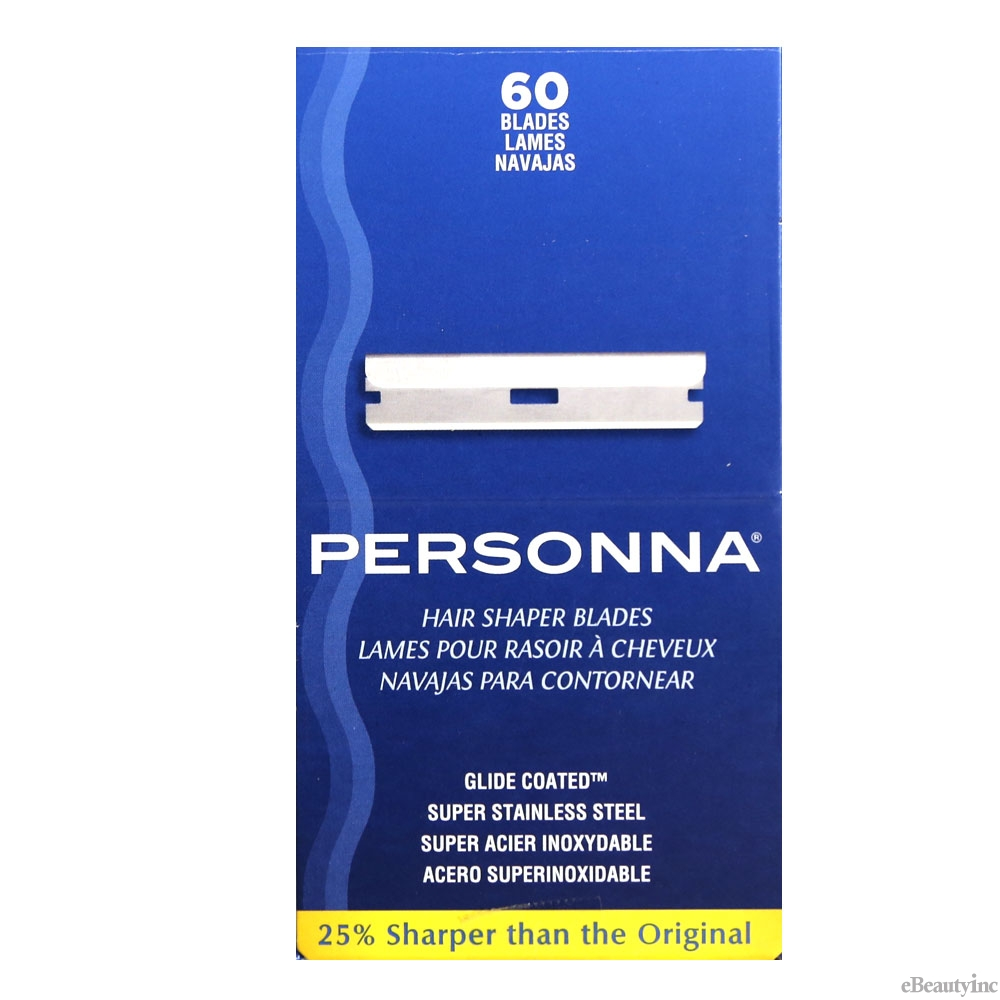 Personna Stainless Steel Hair Shapers Razor Blades #60pcs
