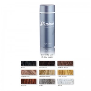 XFusion Keratin Hair Building Fibers Large #Black Color - 0.87oz /25g