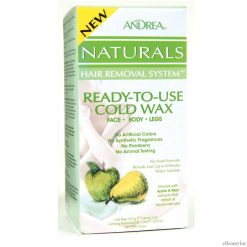 Andrea Naturals Hair Removal System Ready-To-Use Cold Wax Face.Body.Legs Apple & Pear - 5 oz