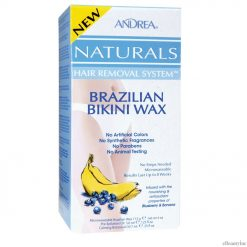 Andrea Naturals Hair Removal System Brazilian Bikini Wax Blueberry & Banana - 4oz