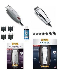 Andis Master Clipper/T-Outliner Trimmer/Attachment Combs/Oil Set