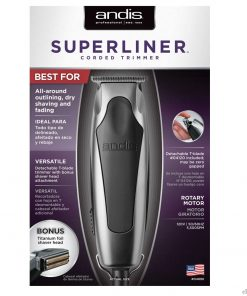 Andis Superliner Detachable blade Hair Trimmer With Shaver Head #04890