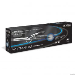 "Andis Titanium 3/4"" Curling Iron #33820"