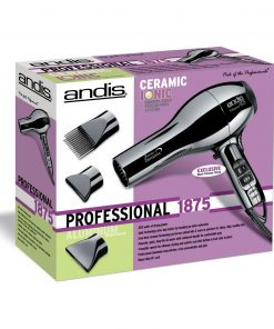 Andis Ceramic Ionic Black Chrome 1875W Hair Dryer #82005