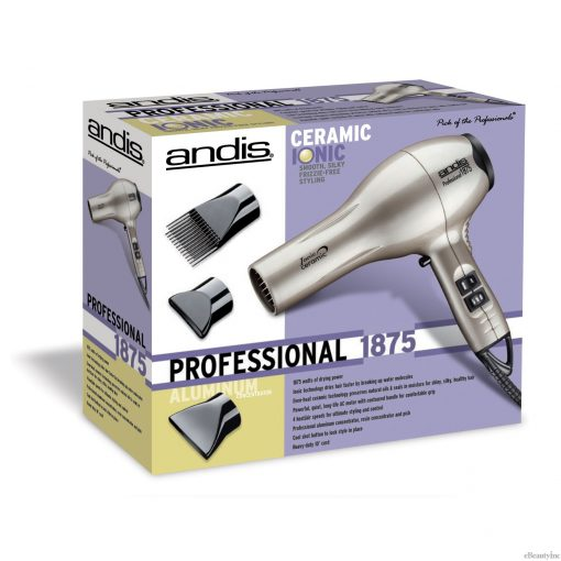 Andis Pro 1875W Ceramic Ionic Platinum Hair Dryer #82310