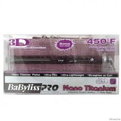 "Babyliss Pro 1"" Ultra Thin Straightener Flat Iron with Purple Case #BABNTPR3072"