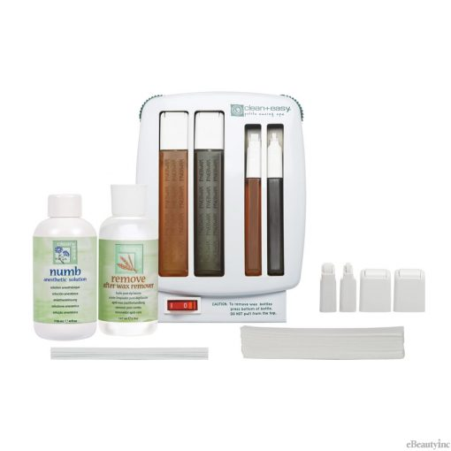 Clean + Easy Petite Waxing Hair Removal Spa Starter Kit