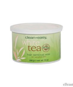 Clean + Easy Hair Removal Wax White Tea with Zinc Oxide - 14 oz