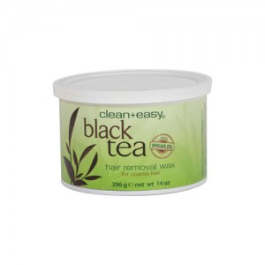 Clean + Easy Hair Removal Wax Black Tea with Argan Oil - 14oz