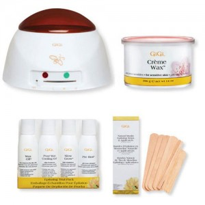 GiGi Pro Creme Wax Warmer Hair Removal Waxing Combo Kit