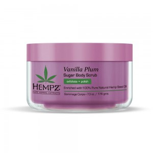 Hempz Vanilla Plum Sugar Body Scrub - 7.3oz