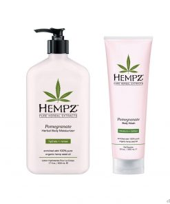 Hempz Pomegranate Herbal Body Moisturizer Lotion & Wash Set