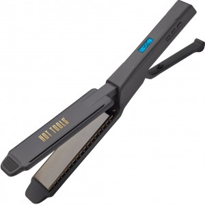 "Hot Tools 1-3/4"" Digital Flat Iron Gold Titanium Extended Plates #HT7105F"