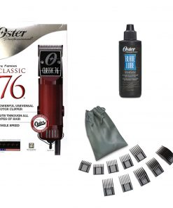 Oster Classic 76 Professional Hair Clipper + Oil + 10 Attachment Combs Guides Set