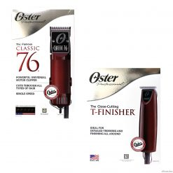 Oster Classic 76 Professional Hair Clipper & T-Finisher Trimmer Set