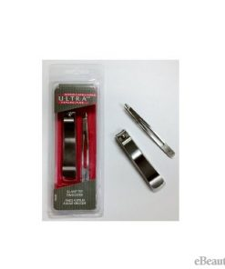 Denco Ultra Aero Slant Tip Tweezers + Nail Clippers Set