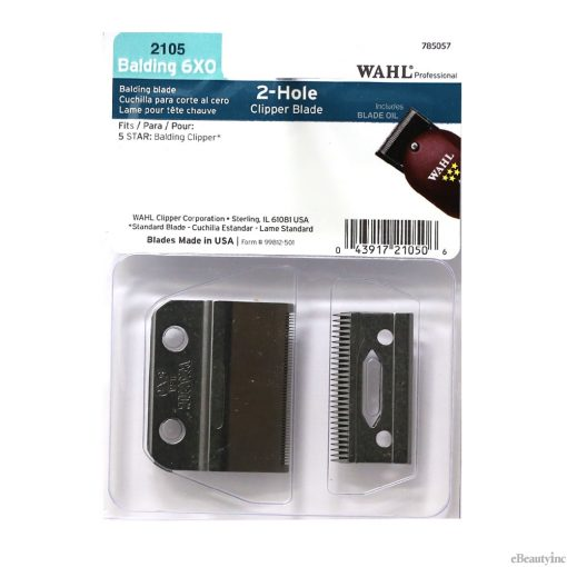 Wahl 2 Hole Replacment Blade for 5-Star Balding Clipper #2105
